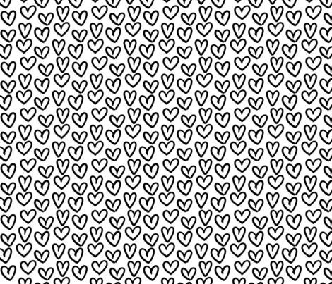 hearts :: marker doodles fabric by misstiina on Spoonflower - custom fabric