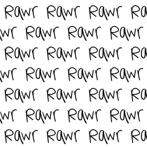 rawr :: marker doodles black and white monochrome typography
