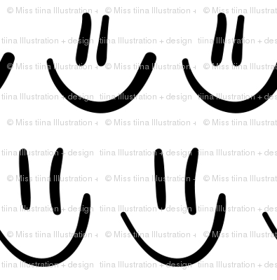 smiley faces :: marker doodles black and white monochrome