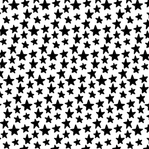stars :: marker doodles black and white monochrome