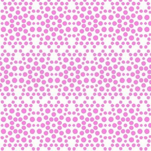 Pink Dolly Dot Lace on Icy Cream