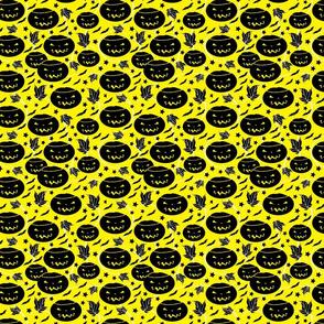 Halloween Jack O Lanterns-yellow