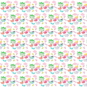 dino friends SMALL 395- tropical dreams-pink