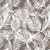 Olive and white palm fronds