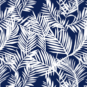 Indigo and white palms