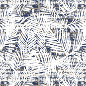 Texture with white palm fronds