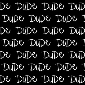 dude inverted :: marker doodles black and white monochrome typography