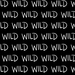 wild inverted :: marker doodles black and white monochrome typography