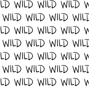 wild :: marker doodles black and white monochrome typography