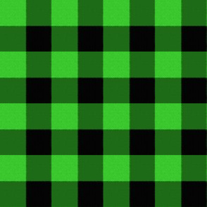Checks in Lime and Black