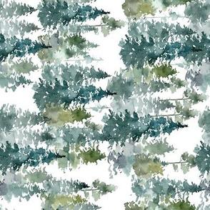 "8"" Woodland Trees - White - 90 Degrees"