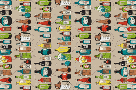 """""""Wet Yer Whistle!"""" fabric by engravogirl on Spoonflower - custom fabric"""
