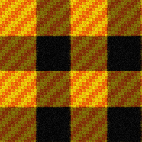 Checks in Pumpkin and Black fabric by anniedeb on Spoonflower - custom fabric
