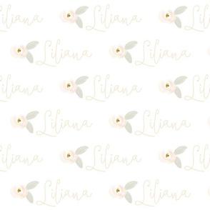 Personalized Blush Rosette // Liliana