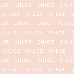chloe // blush background