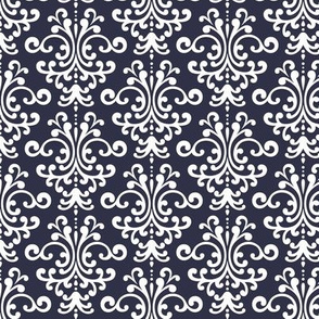 damask midnight blue