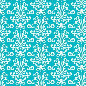 damask surfer blue