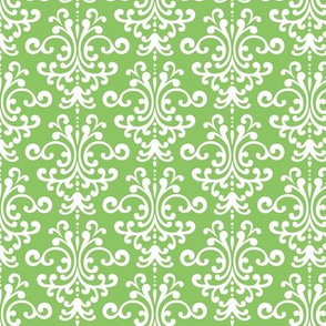 damask apple green