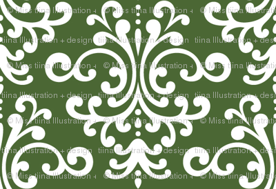 damask hunter green
