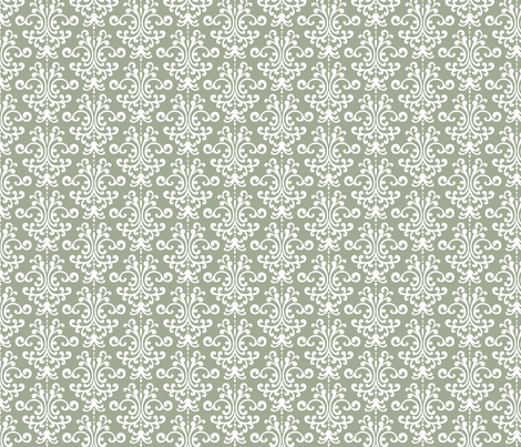 damask sage green fabric by misstiina on Spoonflower - custom fabric