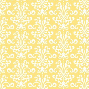 damask sunshine yellow