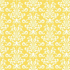 damask butter yellow