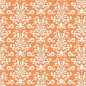damask tangerine orange