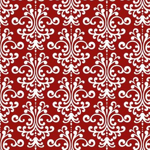 damask dark red