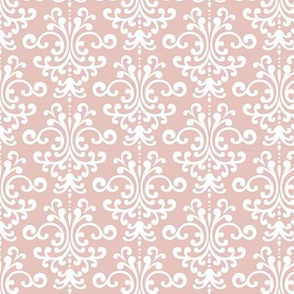 damask dusty pink