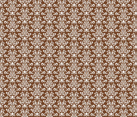 damask chocolate brown fabric by misstiina on Spoonflower - custom fabric