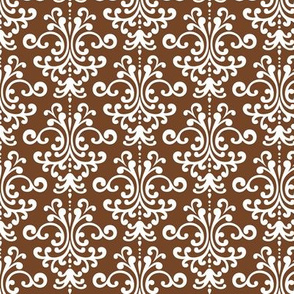 damask chocolate brown