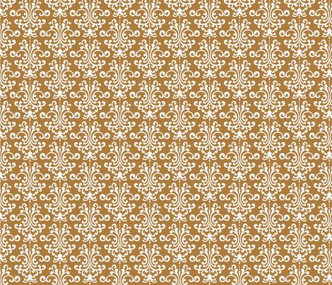 damask caramel fabric by misstiina on Spoonflower - custom fabric