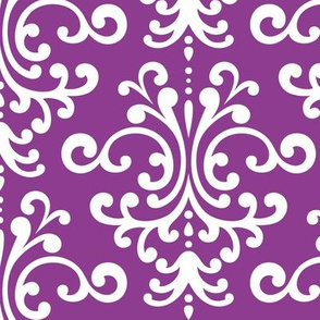 damask lg purple grape