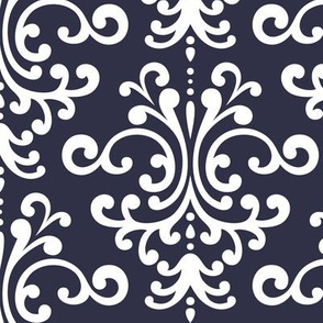 damask lg midnight blue