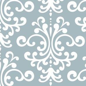 damask lg slate blue