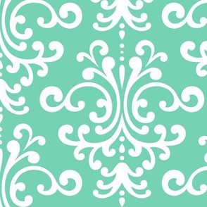 damask lg sea foam green