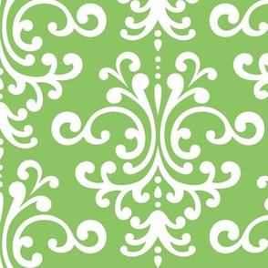 damask lg apple green