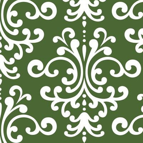 damask lg hunter green