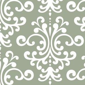 damask lg sage green
