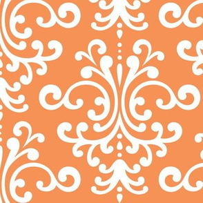 damask lg tangerine orange