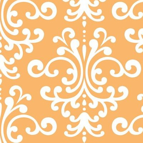damask lg mango orange