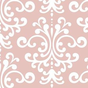 damask lg dusty pink