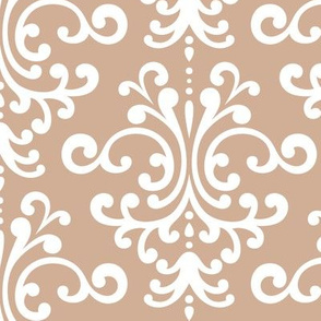 damask lg toasted nut