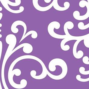 damask xl purple amethyst