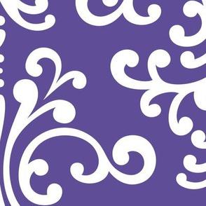 damask xl purple