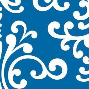 damask xl royal blue