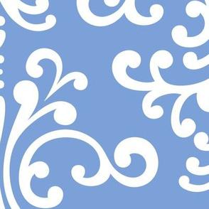 damask xl cornflower blue