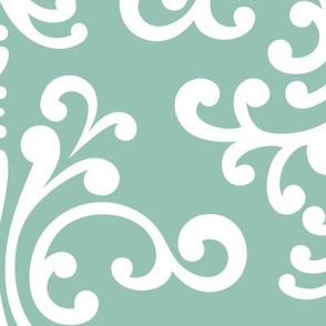 damask xl faded teal