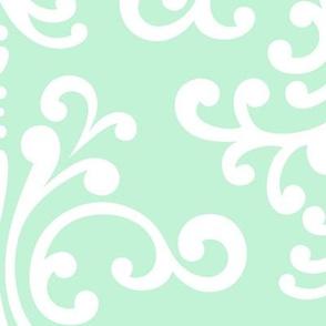 damask xl ice mint green