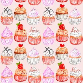 "4"" Valentine Cupcakes // Blush"